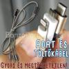 3 az 1-ben megtörhetetlen USB töltő és adatkábel / Micro-USB - USB-C -  Lightning