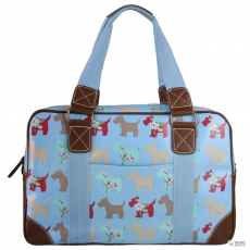 L1106DG - Miss Lulu London Oilcloth utazó táska Scottie Dog kék