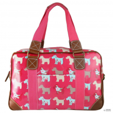 L1106DG - Miss Lulu London Oilcloth utazó táska Scottie Dog Plum