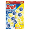BREF Power Aktiv Lemon WC illatosító, 3x50 g (9000100753371)