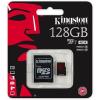 Kingston Memóriakártya, MicroSDXC, 128GB, Class 10, adapterrel, KINGSTON