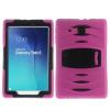 Samsung Galaxy Tab E 9.6 Ütésálló Tok Kitámasztható Duty Series RMPACK 2in1 Műanyag-Szilikon Pink