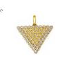 Bicolor köves háromszög arany medál