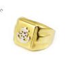 Bicolor férfi arany gyűrű