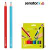 Senator Jumbo színes ceruza készlet, 12 szín, + 1 db 4 színű