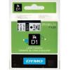 DYMO Páska D1 - 9 mm x 7 m, čierna/priesvitná (40910)