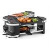 Klarstein Klarstein Tenderloin, mini raclette grillsütő, 600 W, 360°-os alaprész, forró kő
