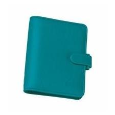 FILOFAX Kalendárium, gyűrűs, betétlapokkal, A5 méret, FILOFAX Saffiano, aquamarine gyűrűskönyv