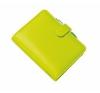 FILOFAX Kalendárium, gyűrűs, betétlapokkal, A5 méret, FILOFAX Saffiano, zöld gyűrűskönyv