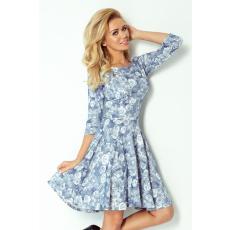 saf Virágos ruha 105-1 kék