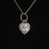 BAMOER Jewelry Sterling ezüst nyaklánc köves szív alakú medállal