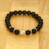 Love Eternal Jewelry Co.,LTD Buddha fekete ásvány karkötő