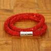 Yiwu Chanfar Jewelry Factory Duplasoros, mágneses, hálós kristály karkötő - piros