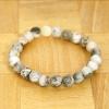 Yiwu Chanfar Jewelry Factory Zöld-fehér márványos ásvány karkötő