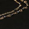 YiWu Fashion Statement Jewelry Fekete kristályos aranyozott nyaklánc kereszttel