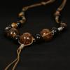 Peacock Ethnic Jewelry Leopárd mintás kézműves kerámia nyaklánc
