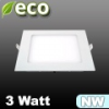 ECO LED panel (négyzet alakú) 3 Watt - természetes fehér