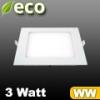 ECO LED panel (négyzet alakú) 3 Watt - meleg fehér