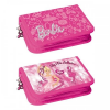 BARBIE ST Ziplocked Pencil Case with compartments + filling Barbie 12/48 328990