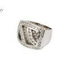 Köves szögetes fehérarany gyűrű