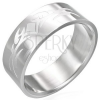Fényes acél gyűrű - bemart matt szimbólumok