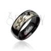 Acélgyűrű, fekete minta