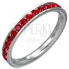 Rubinvörös cirkonköves gyűrű, nemesacélból