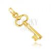 Arany medál - kis csillogó kulcs, kivágott ovális a tetején