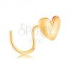 585 arany orrpiercing, ívelt - fényes szív, középen megtörve