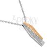 Sebészeti acél nyaklánc - kettős medál, AMOUR felirat