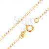 Nyaklánc 18K sárga aranyból - fényes, lapos, ovális szemek, 500 mm