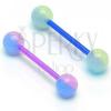 UV nyelvpiercing - golyócska két színben