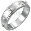 Gyűrű sebészeti acélból - domború hengerek