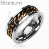 Titánium gyűrű - réz színű lánc