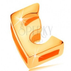 14K arany medál fénylő és sima felülettel, nagy nyomtatott E betű
