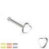 Orr piercing sebészeti acélból, kis részarányos szív