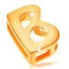 14K arany medál - nyomtatott B betű, fénylő és sima felület