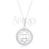 925 ezüst nyakék, nyaklánc és medál, csillogó karika kidomborodó ornamentum
