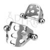 Nemesacél fülporc piercing - boltív szív alakú kivágásokkal