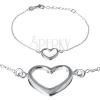 Karkötő ezüstből - széles szívkeret finom láncon