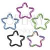 Hamis fülpiercing titániumból - színes csillag