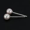 925 ezüst fülbevaló - rózsaszín gyöngyöcskék, 4 mm