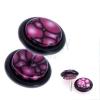 Hamis piercing a fülbe akrilból - lilás-rózsaszín buborékok