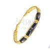 Madzagos karkötő - sárga színű fonat, díszítő gyöngyök