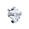 Kettős, ezüst medál - törött szív szalaggal TRUE FRIEND