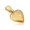 Arany medál - térbeli szív szatén felszínnel, vésetek
