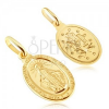 Arany medál - ovális tábla Szűz Mária szimbólummal
