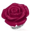 Sebészeti acél gyűrű piros rózsával