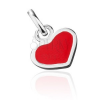 Ezüst medál - piros szívecske ezüst szegéllyel