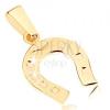 375 arany medál - csillogó szerencsét hozó patkó, gravírozott pontok